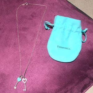 Tiffany and Co. Heart Key Necklace
